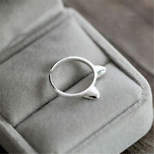 1Pc Animal Cat Ear Finger Opening Ring Silver Plated Jewelry Gift Decoration