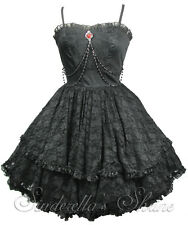 SPIN DOCTOR Victorian ZYLPHIA Steampunk GOTHIC Vampire Party Dress L UK 12-14