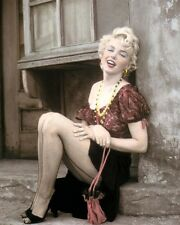 "MARILYN MONROE BUS STOP 1956 HOLLYWOOD ACTRESS 8x10"" HAND COLOR TINTED PHOTO"