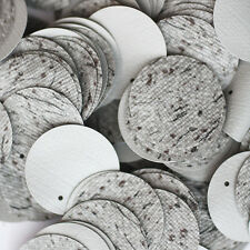 20mm ROUND SEQUIN PAILLETTE ~  GREY TWEED WEAVE FABRIC EFFECT~  Made in USA