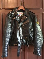 Aero Leather Hose hide Motorcycle Jacket Size 34