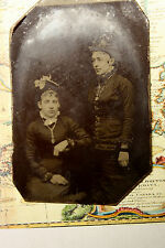 ANTIQUE VICTORIAN ERA TIN TYPE CABINET PHOTO - NEWFOUNDLAND ?? SMALL PHOTO