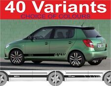 skoda fabia side stripes octavia rs vrs 40 variants