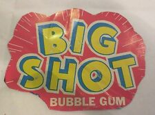 Gumball Machine - Display Card Big Shot Bubble Gum - vintage