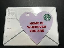 """STARBUCKS Card 2015 Valentine's Day Mini Heart """"Home is Wherever you are"""""""