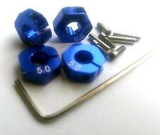 RC 1/10 Car 12mm hex 5mm Alloy Locking Lock Wheel Rim Adapter Adaptor Hub BLUE