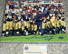 LOU HOLTZ AUTOGRAPHED NOTRE DAME FIGHTING IRISH 8x10 TEAM PHOTO STEINER HOLO COA