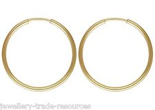 1x paire 30mm 14ct gold filled round hoop sleeper earrings