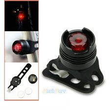 New Bike Bicycle Red LED Rear Light 3 modes Waterproof Tail Lamp Black US Ship
