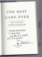 The Best Game Ever Giants vs. Colts 1958 By Mark Bowden Signed Autographed
