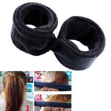 New Women Lady Black Hair DIY Bun Wrap Undo Snap Styling Tool Shaper