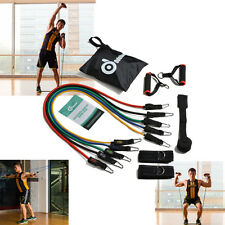 11 Pcs Resistance Bands Set Workout Band Exercise Pilates Yoga ABs Fitness Tubes