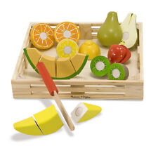 CUTTING FRUIT ~ WOODEN PLAY FOOD SET ~ Melissa and  & Doug Item # 4021 Day Care