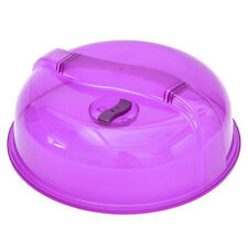 Hot Microwave Plate Cover Food Dish Ventilated Steam Vent Clear Kitchen Cooking