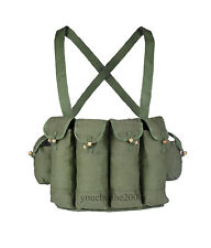 SURPLUS CHINESE 81 AK47 RIFLE CHEST RIG  BANDOLEER FOR CARTRIDGE  GREEN-31270
