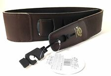 LOCK-IT Guitar Strap Brown  Soft Leather Patented Locking Technology