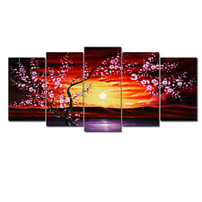 Framed Painting Pic Canvas Print Home Decor Wall Art Large Landscape Floral Tree