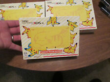 New Nintendo 3DS XL Pikachu Yellow Edition CONSOLE WORKS w/ AMIIBO RARE SYSTEM