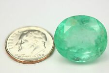 21.95Cts LARGE Loose Natural Colombian Emerald Oval Shape