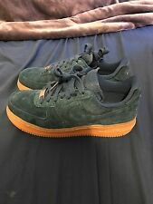 Nike Air Force 1 '07 Suede Low Basketball Shoe Teal Gum Sole Women's Size 6