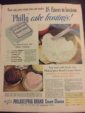 Original 1951 Philadelphia Cream cheese vintage advertising Halo Shampoo