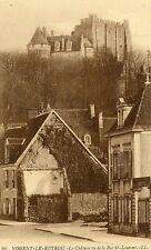 France Nogent-le-Rotrou - Le Chateau vu de la Rue St-Laurent old sepia postcard