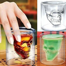 Crys Skull Head Vodka Shot Glass Fun Creative Designer Doomed Crystal Party EH