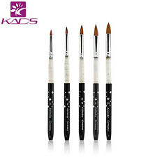 5pcs/set 100% Kolinsky Sable Acrylic Brush  Size 2#/4#/6#/8#/10# Nail Art Brush