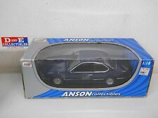 Anson BMW 635 CSI Blue Diecast Car 1/18 Scale in Original Box Rear Spoiler