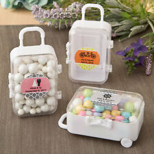 24 Personalized Mini Travel Suitcase Birthday Baby Party Wedding Favors