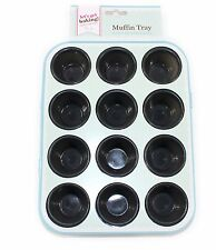 Silicone12 Cup Mini Muffin Bun Cupcake Baking Bakeware Mould Tray Pan Kitchen UK