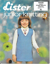 """Vintage Lister Tejer patrón Niñas DK Jumper & Jumper 22-28 """"en el pecho"""