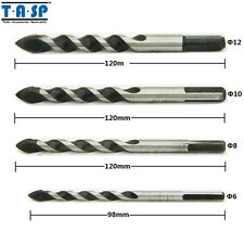 Drywall Tungsten Carbide Drill Bits Set for Tile Marble Mirror Glass 6/8/10/12mm