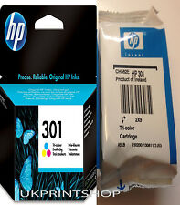 Original HP 301 Colour Ink Cartridge for  Deskjet 1000 1050 2050  3050  Printers