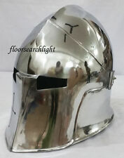MEDIEVAL VISOR BARBUTA ARMOUR HELMET GREEK ROMAN BARBUTE HELMET
