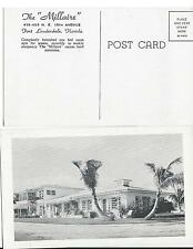 "1920s The ""Millaire"" Furnished Apartments Fort Lauderdale Florida Postcard FL"