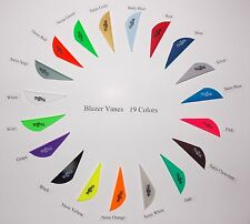 Blazer Vanes (New) w/Logo 17 Colors Mix/Match Pkg 100