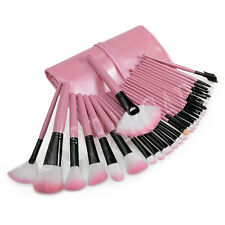 32 Pcs Makeup Brush Set Blush Eyeshadow Lip Blending Cosmetic Kit Leather Case