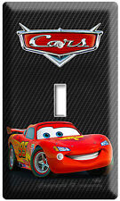NEW CARS 2 LIGHTNING MCQUEEN DISNEY SINGLE LIGHT SWITCH BOYS BEDROOM DECORATION