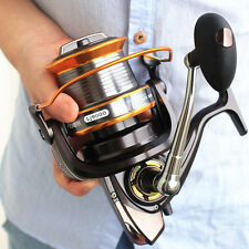 9000 Long Cast Heavy Spinning Fishing Reels flat Full Metal Spool 13BB 2016 NEW