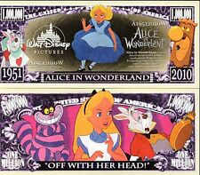 Alice in Wonderland Million Dollar Novelty Money