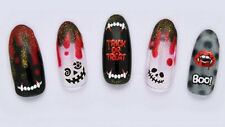 Bloody Happy Halloween Horror Faces Vampire Teeth Water Transfers Nail Art Decal