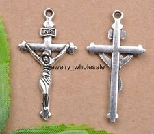 10pcs Tibetan Silver Charm Cross Pendants 38X20mm Jewelry Making JW2
