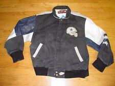 Mens XL Dallas Cowboys Jeff Hamilton Leather Denim Jacket Coat Prescott Elliott