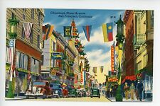 Colorful VINTAGE CHINATOWN San Francisco PC Linen SIGNS Chop Suey China Clipper