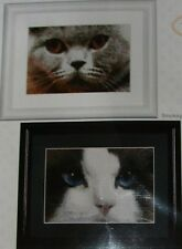 """New Thea Gouverneur  """"SMOKEY""""  + """"BLUE""""  Counted Cross Stitch Kit - Both Cats"""