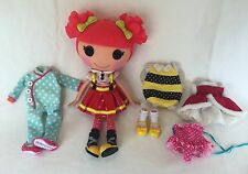 Lalaloopsy Doll Ember Flicker Flame Full-Size w/ Holiday Dress Bee Costume &More
