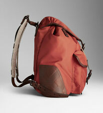 NWT BURBERRY AUTHENTIC Unisex Korbin Nylon & Leather Backpack Handbag Rust new