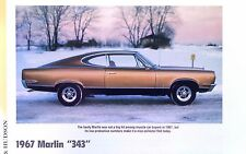 1967 AMC Marlin 343 ci 280 hp info/specs/photo/prices 11x8