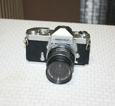 Vintage Nikon Nikkormat FTN 35mm SLR Film Camera With Rexagon 28mm f:2.8 Lens